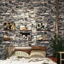 Chinese Retro nostalgic 3D imitation brick PVC  wallpaper pub theme restaurant shop culture stone grey red pure