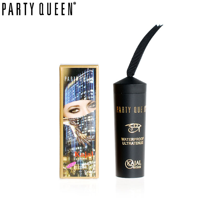 Party Queen Eye Enhancing Black Kajal Eyeliner Stick Sólido Thick - Maquillaje - foto 4