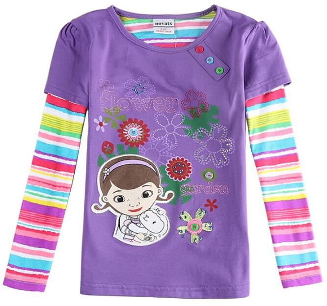 hot sale purple brand T shirts for girls baby clothes All ...