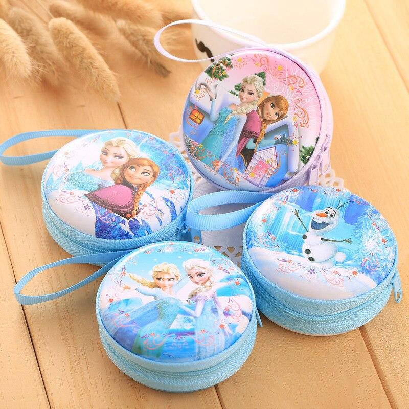 Лидер продаж, кошелек для монет с героями мультфильмов, Эльза, Анна, принцесса, чехол для ключей для девочек, кошелек, детский Снежная королева, гарнитура, сумка для монет