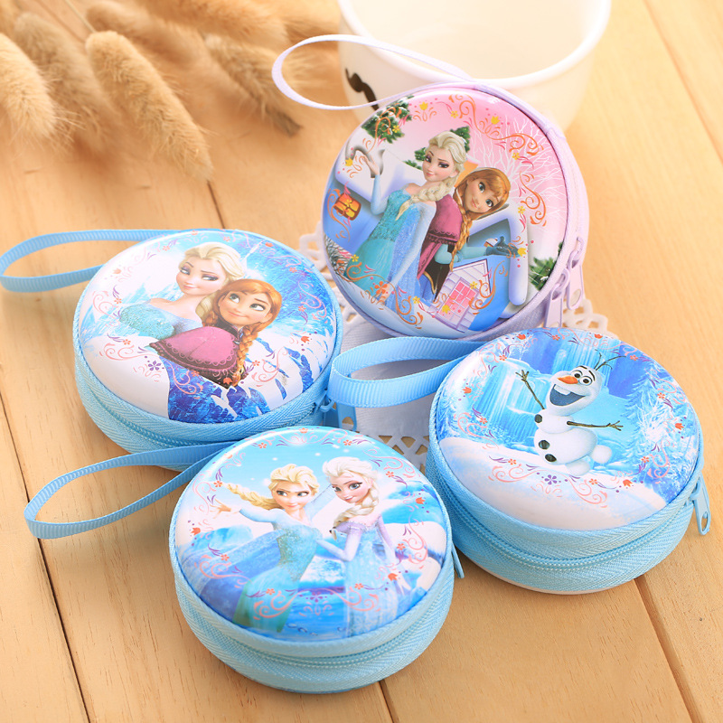 STANCHION Hot Sale Cartoon Mynt Pung Elsa Anna Princess Jenter Key Case Wallet Children Snow Queen Hodesett Veske Mynt Bag