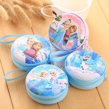 DUDINI Hot Sale Cartoon Coin Purse Elsa Anna Princess Girls Key Case Wallet Children Snow Queen Headset Bag Coin Bag bag anna luchini bag