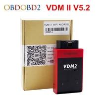 Newest UCANDAS VDM2 VDM II V5 2 WIFI Bluetooth Support Multi Language And Android System Free