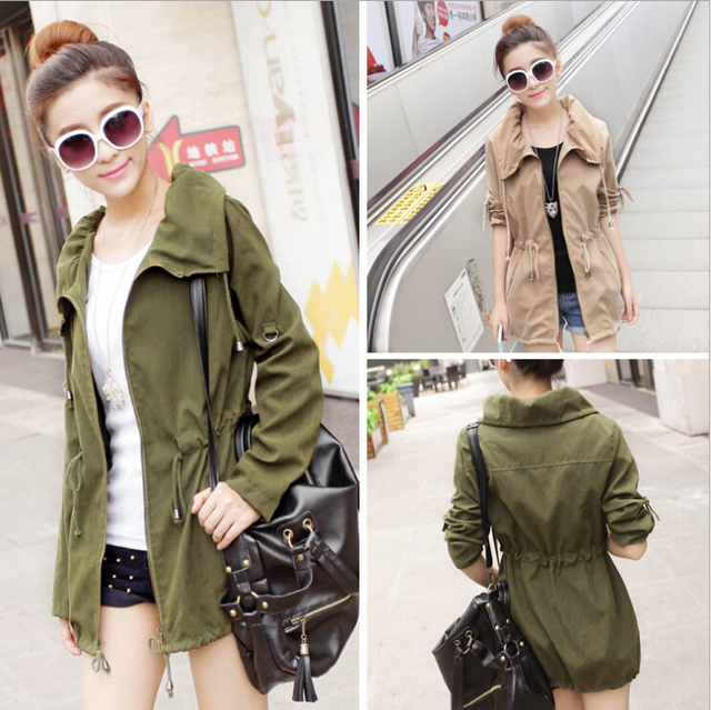 2016 New Spring short jackets Green/Khaki Color Women outwear Spring Slim Short Design Suit Coat S/M/L Free Shipping S1021S0001