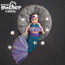 Animal Design Newborn Studio Accessories Baby Photography Props Mermaid Tail Photo Props 3pcs /set Free Shipping