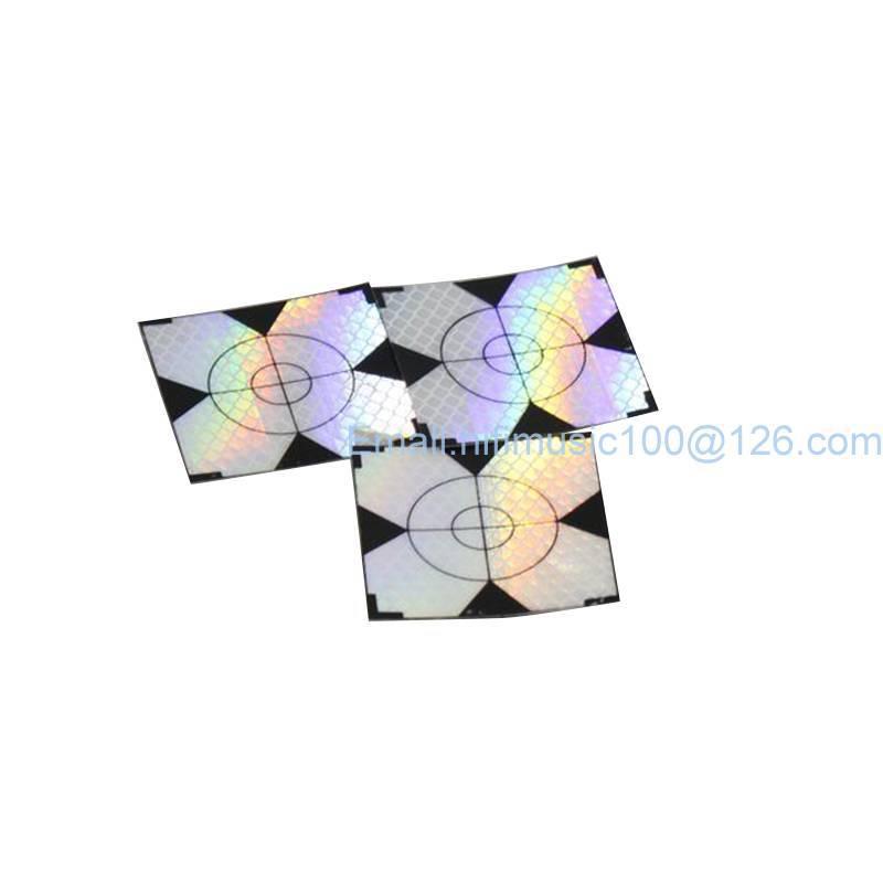 100pcs Reflector Sheet 50 x 50 mm 50x50 Reflective Tape Target Total Station ...