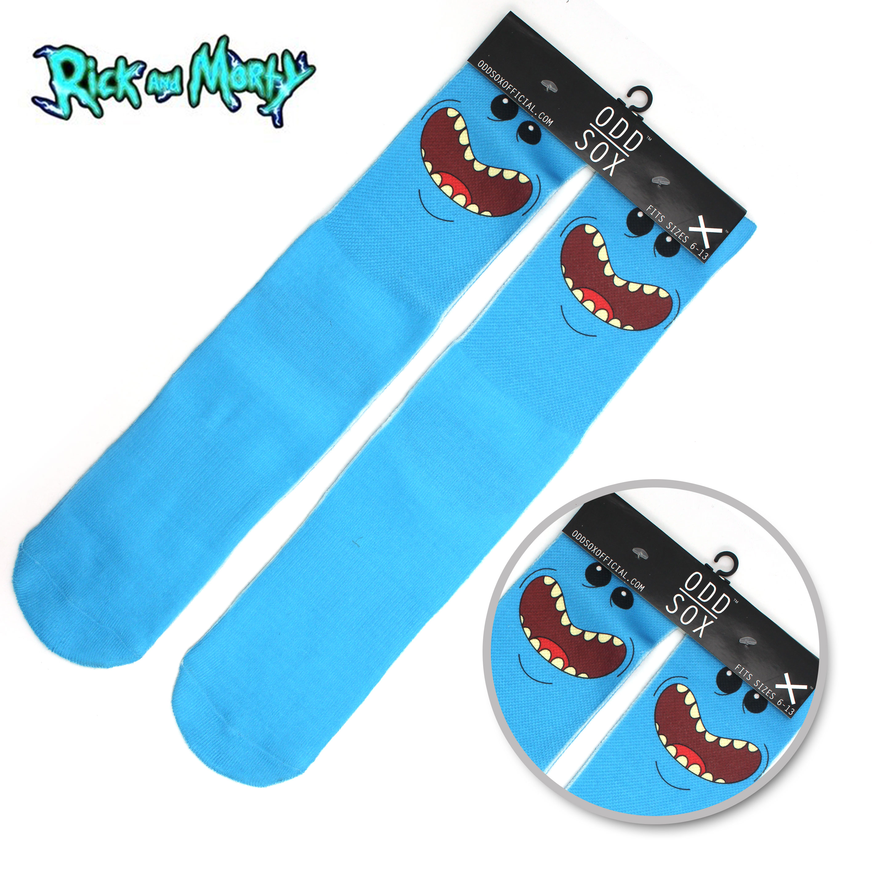 """4x16"""" Rick and Morty MEESEEKS Pickle Rick Blue/Green Cotton Socks Colorful Stockings Warm Tights Cartoon Fashion Gifts"""
