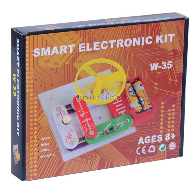 Smart electronic kit snap learning educational appliance toys,DIY building blocks models electronic 35 projects,kid create toy купить