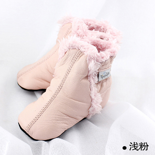 Lovely Winter Warm Baby Shoes leather wool Padded Infant Toddler Baby Boys Girls Boots Soft Newborn Bebe First Walkers 19901