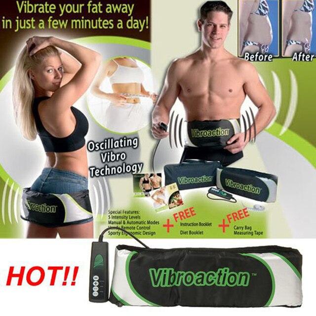 7e99df0f2e Electric Vibrating Slimming Belt Vibroaction Body Shaper Fat Burning  Massage Belt RELAX Vibrating Weight Loss Losing