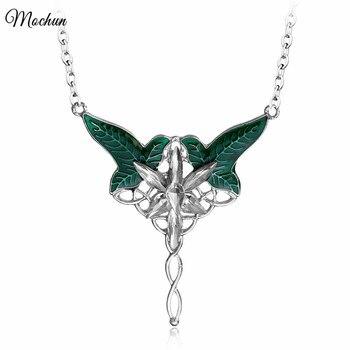 MQCHUN зеленый цвет длинный Elven лист кулон арвэвенстар кулон ожерелье для мужчин и женщин фильмы ювелирные изделия оптом