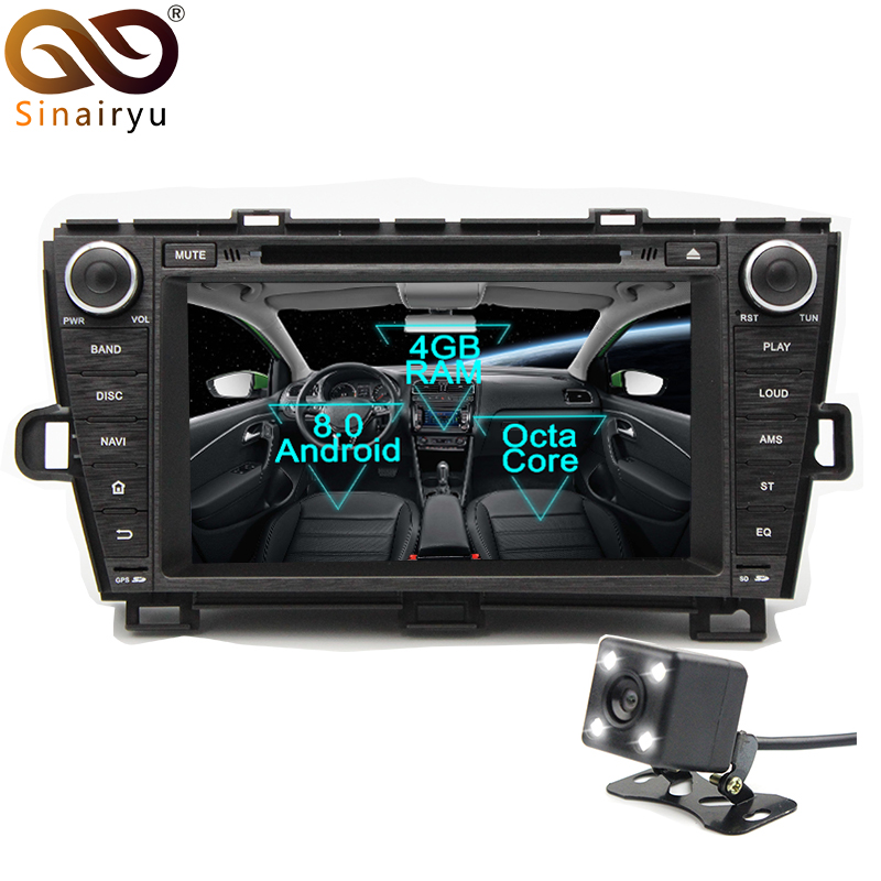 Sinairyu Android 8 0 8 Core 4G RAM Car DVD GPS For Toyota Prius 2009 2010