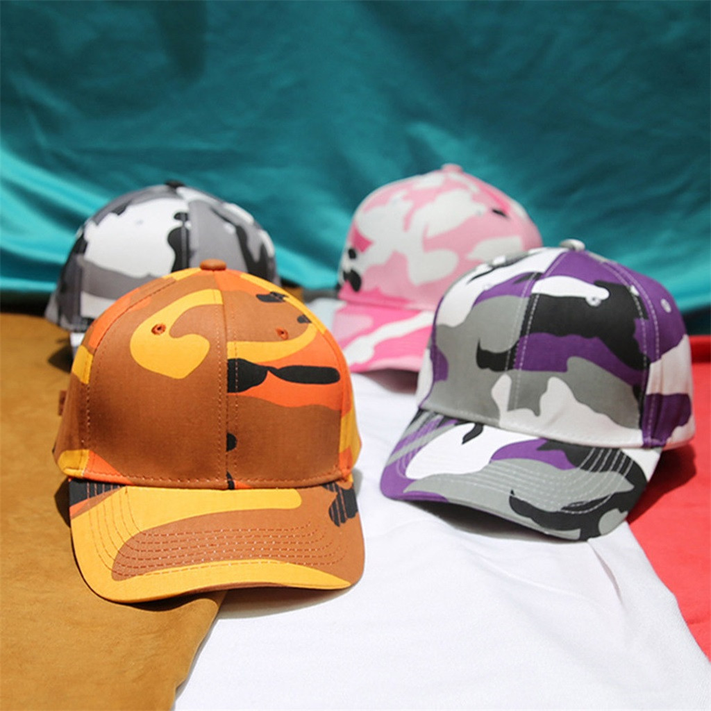 Knowledgeable Unisex Outdoor Camouflage Trucker Plain Baseball Visor Cap Dad Hat Gift Z118 Fine Workmanship