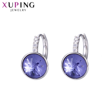 Xuping Lovely Round Shape Hoops Earrings Elegant Crystals from Swarovski Special Fashion Jewelry for Women Gift S142.2-9394 swarovski lovely crystals mini 5242904