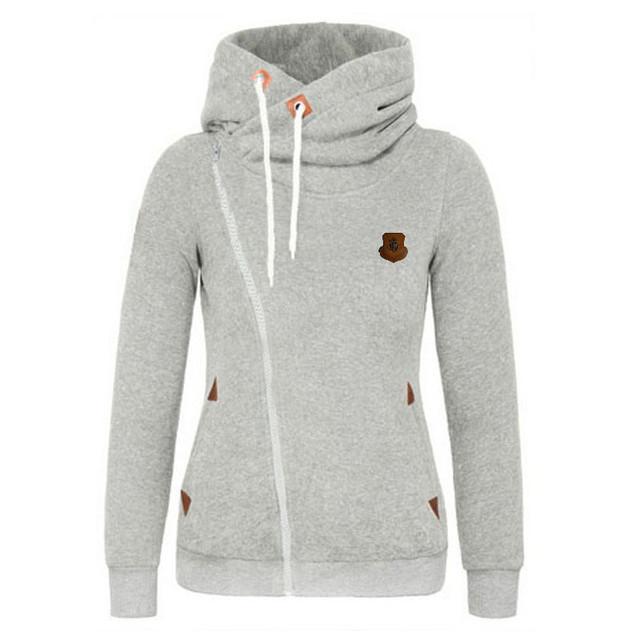 Women Zipper Hoodies Thick Thicken Sweatshirt Hoodie