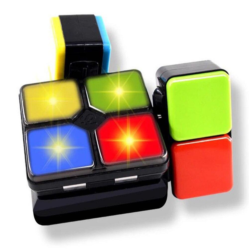 MINOCOOL Musique Magique Cube Multiples Infini Led Lumière Antistress Cube Défi Mode De Jeu Enfants L'éducation Jouet pour Enfants