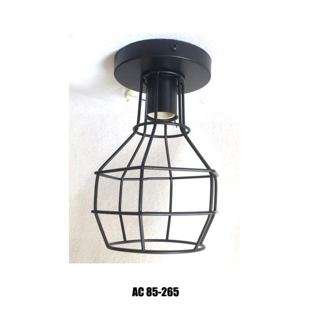 Glw Semi Flush Mount Retro Black Hallway Vintage Wall Lamp