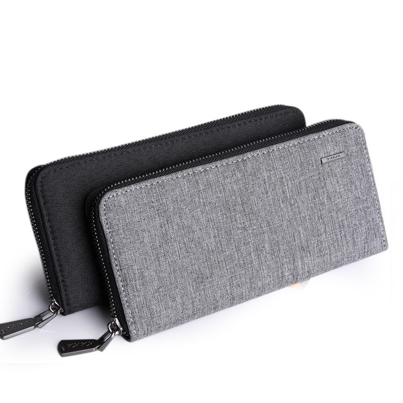 Men Wallet Clutch Canvas Wallet Male Organizer Cell Phone Clutch Bag Long Coin Purse