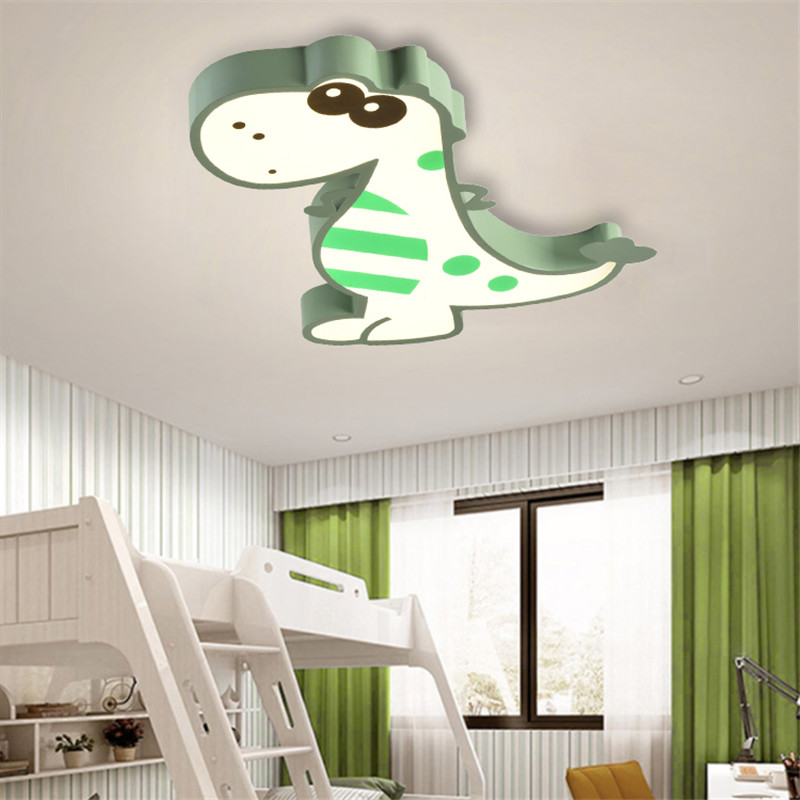 Image 5 - Cartoon Bedroom Kids Room Lights Ceiling For Girl Boy Animal Dinosaur Child Princess Baby Childrens Room Ceiling Lamp Lighting-in Ceiling Lights from Lights & Lighting