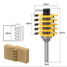 цена на 1Pc Box Joint Router Bit Adjustable 5 Blade 3 Flute 8 Shank For Wood Cutter Tenon Cutter for Woodworking Wood Cutter Tools