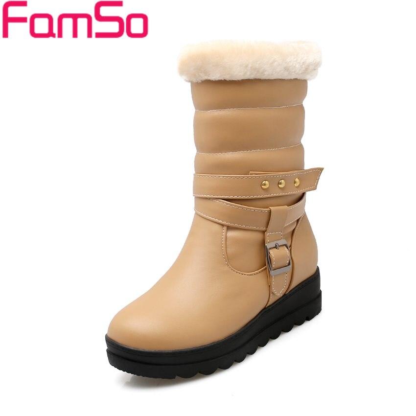 Size 34 43 2016 New font b Women b font Black Boots Designer Russia Winter Outdoor