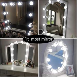 Image 5 - LED 12V Makeup Mirror Light Bulb Hollywood Vanity Lights Stepless Dimmable Wall Lamp 6 10 14Bulbs Kit for Dressing Table