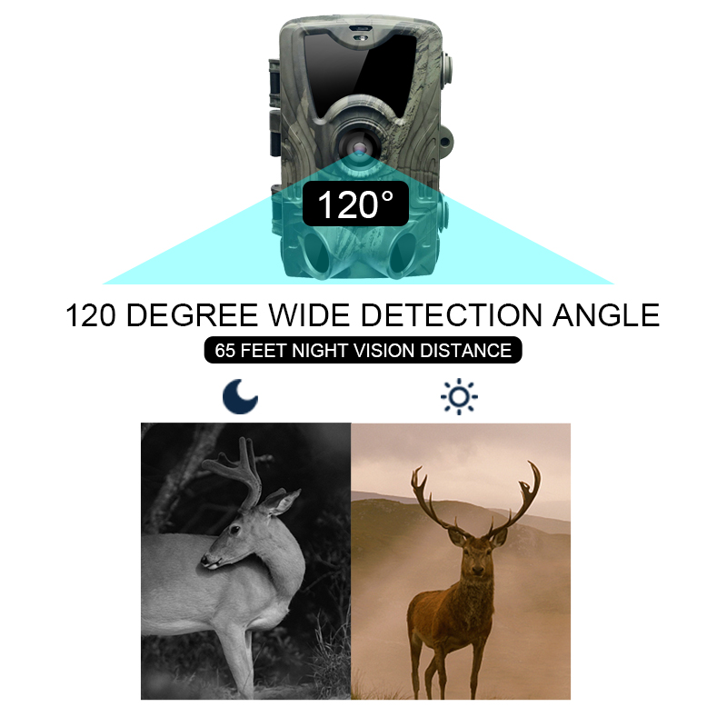 Image 4 - HC801A HC801M Hunting Trail Camera Infrared  2G MMS email Photo Traps SMS Night Vision Wildlife gsm camera de chasse infrarouge-in Hunting Cameras from Sports & Entertainment
