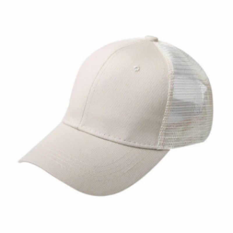 קיץ קוקו נשים כובע כובע רגיל מבולגן Bun Snapback כובע חיצוני ספורט כובע רשת בייסבול כובע היפ הופ נשי כובע נהג משאית כובע