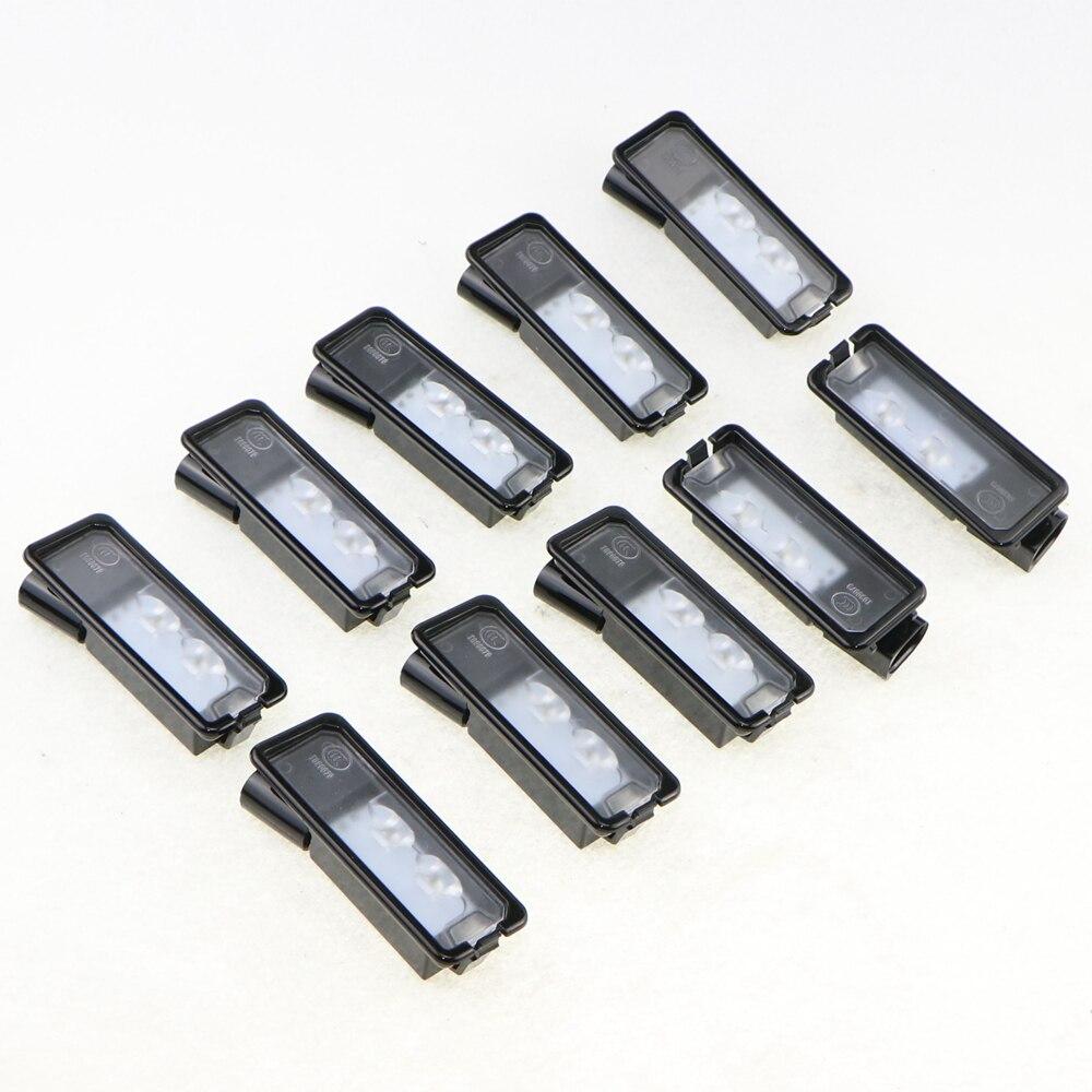 ФОТО 10 Pcs VW OEM Original LED License Plate Light Fit VW Golf MK6 MK7 Passat B7 CC  Polo 6R 35D 943 021 A 35D943021A 35D 943 021