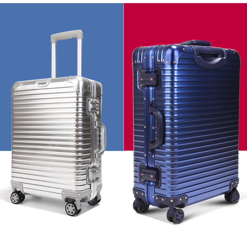 20 24 inches Aluminum Luggage TSA Lock Spinner Hardside Rolling Trolley Luggage Travel Suitcase Checked Cabin Carry on Luggage