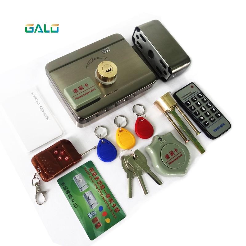 Smart tag Cartão De IDENTIFICAÇÃO Da Porta de controle remoto portão bloqueio castelo circuito Eletrônico de Controle de Acesso RFID leitor RFID bloqueio Aro duplo