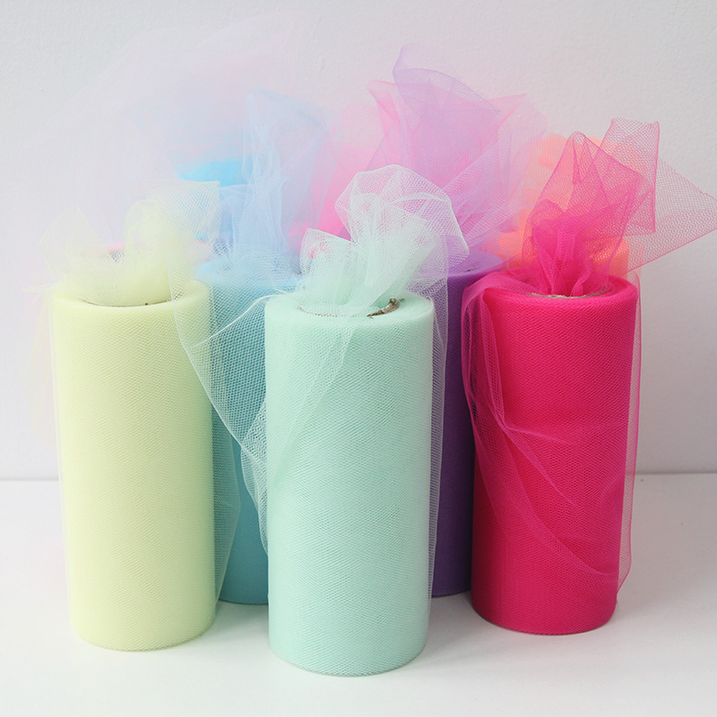 25yards Tulle Wedding Decoration 15cm Tulle Roll Valentine's Day decor valentines day gift pack Tulles baby shower birthday