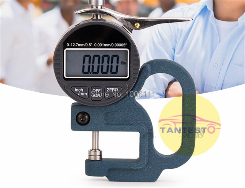 Display Digital micrômetro medidor de espessura ferramenta de medição para common rail injector calços, ferramenta de reparo do injector common rail