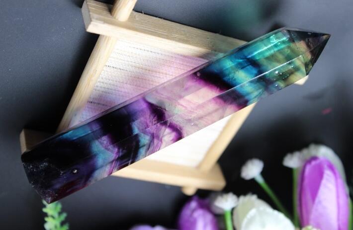 Təbii yaşıl flüorit kvars kristal - Ev dekoru - Fotoqrafiya 1