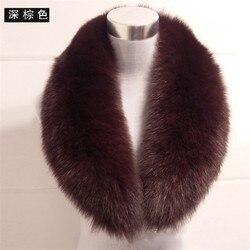 Real fox bontkraag winter warme authentieke natuurlijke vos bont sjaal jas kraag