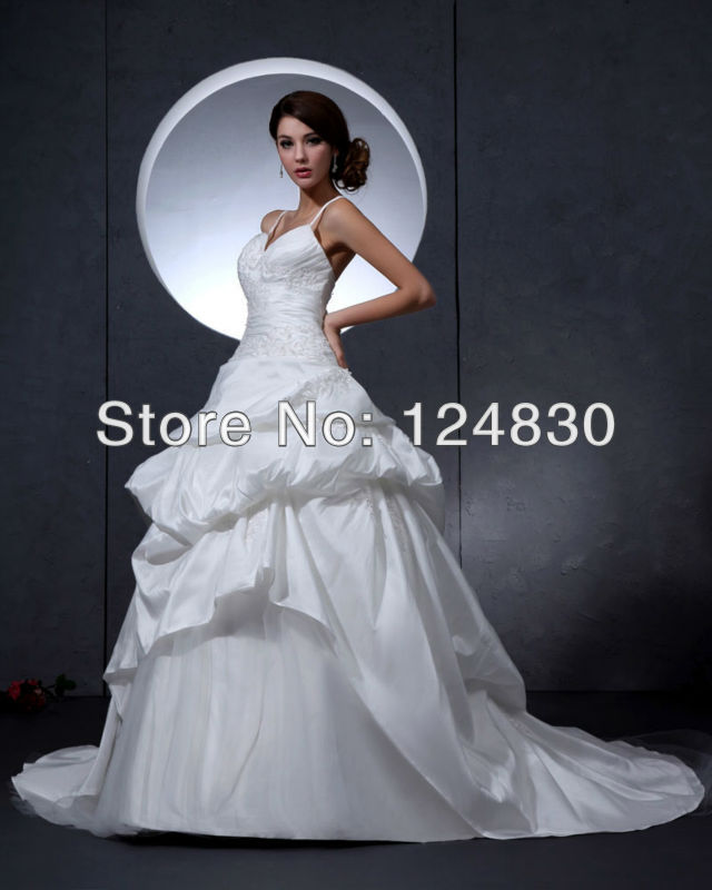 Best Ball Gown Wedding Dresses: Best Selling Free Shipping Unique Spaghetti Strapless
