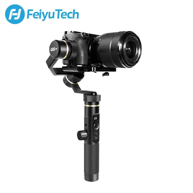FeiyuTech G6 Plus 3-Axis Handheld Gimbal Stabilizzatore per Fotocamera Mirrorless Macchina Fotografica di Tasca GoPro Smartphone Carico Utile 800g Feiyu g6P