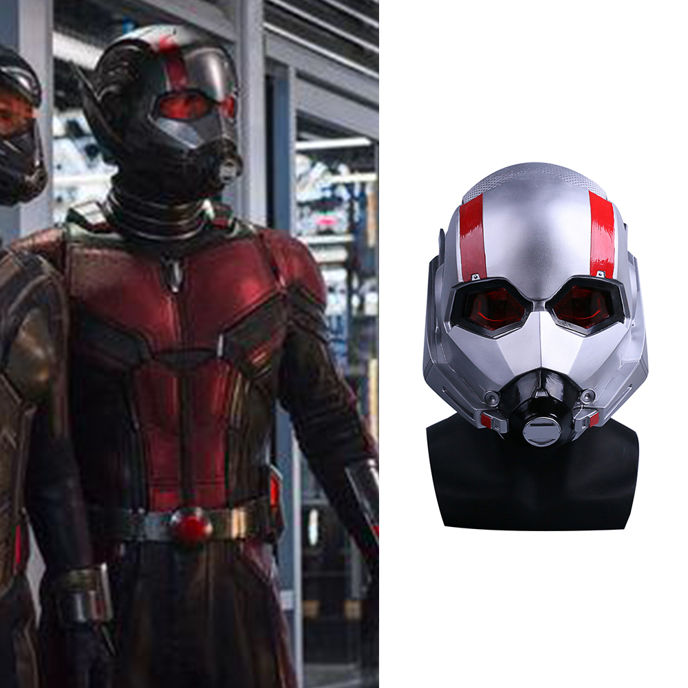 Movie Ant-Man and the Wasp Mask Cosplay Antman PVC Helmet Scott Edward Helmets Masks New Halloween Party prop