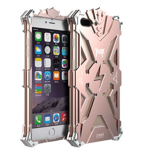 New Design Armor Heavy Dust Metal Aluminum THOR IRONMAN Protect Phone Shell Case Cover for iPhone7 iPhone8 8Plus Back Case cover