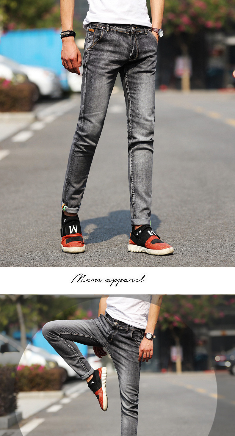 3f696618c890 Fashion Jeans Men Stretch Light Color Jeans Casual Straight Multicolor  Skinny Men Slim Fit Denim Trousers