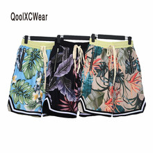 QoolXCWear 2018 fashion new shorts men hip hop street wear clothing size flower design