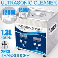 가정용 초음파 청소기 1.3l 고압 클리너 120 w degas 히터 타이머 스테인레스 스틸 목욕 바구니 쥬얼리 시계 부품