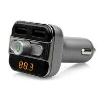Kits de cargador usb 2.1A Dual USB Car charger puerto 2 USB puertos BT20 Bluetooth Manos Libres de Coche MP3 Reproductor de música tarjeta TF móvil teléfono