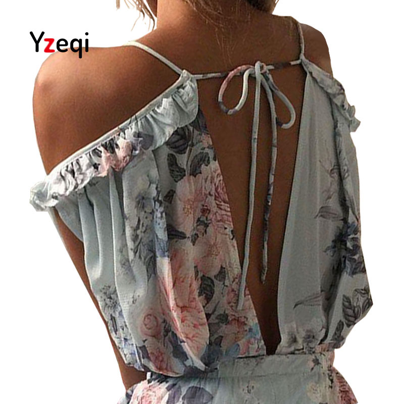 Yzeqi Women Rompers Print Lace Jumpsuit Summer Large V Collar Female Chest Wrapped Strapless Playsuit Plus Size Jumpsuits For
