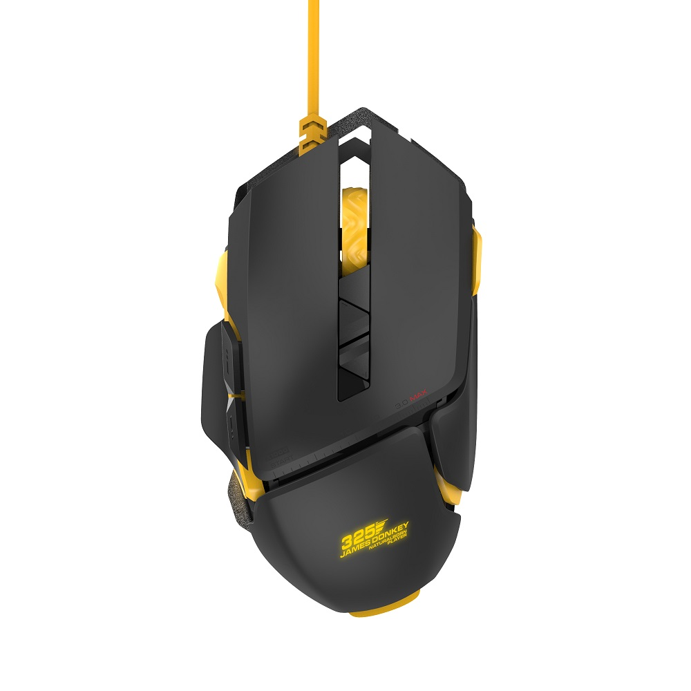 James Donkey 325S Optisk USB Wired Pro Gaming Mouse med 4 Justerbar Niveau RGB LED Baggrundsbelysning ZF Switch Game Mus til Mac PC CS
