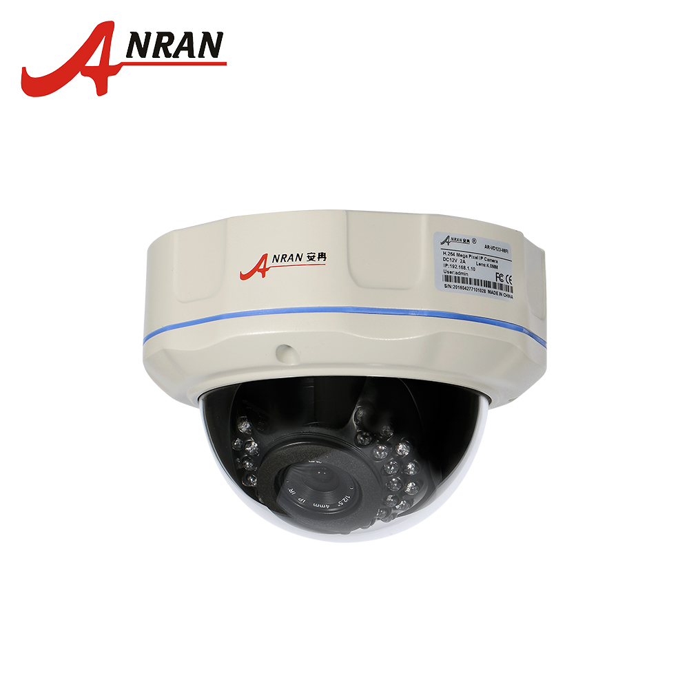 ANRAN IP Camera Security CCTV 1080P POE Vandalproof H.264 2MP Dome Camera IR Nightvision HD Video Mini CCTV security IP Camera ahwvse h 264 poe camera promotion full hd 1080p poe ip camera h 264 infraed cctv camera mini ir dome indoor camera