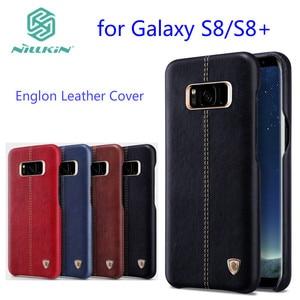 Image 1 - Do samsung galaxy s8 przypadku Nillkin Englon pokrywa luksusowe PU skóra rocznika tylnej pokrywy skrzynka samsung s9 plus Note9 uwaga 8 obudowa