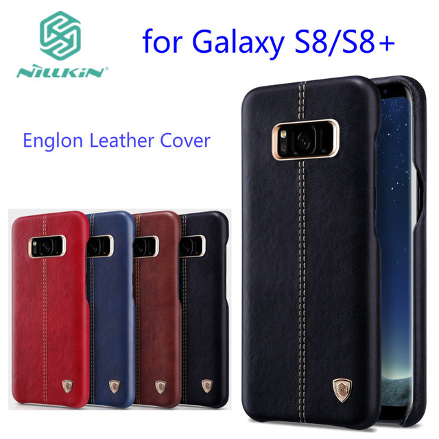 For samsung galaxy s8 case Nillkin Englon cover luxury PU Leather Vintage back cover case samsung s9 plus Note9 Note 8 casing