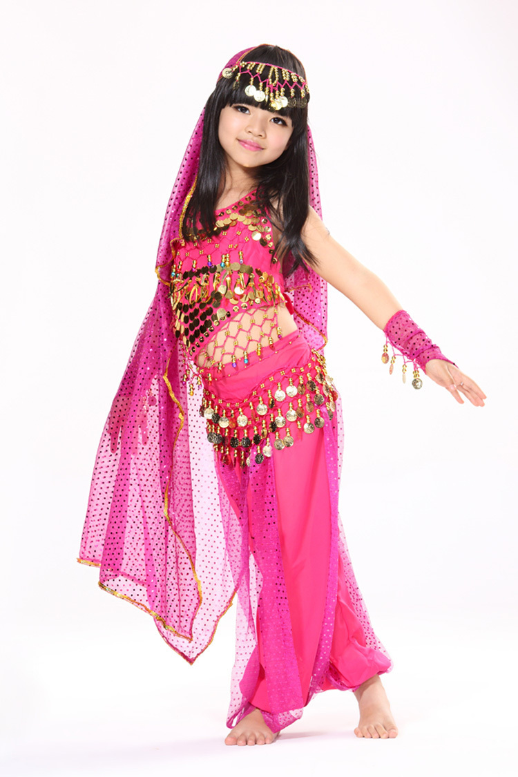 16adfd159f 2015 Cute KIDs Girls Oriental Belly Dance Costumes Set 6 PCS Child Bollywood  Indian Skirts Children Gift Roupas Infantis Menina-in Belly Dancing From .