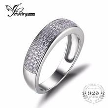 Jewelrypalace cubic zirconia conjunto de canales aniversario eternidad wedding band anillo 925 joyas de plata para la boda amigos